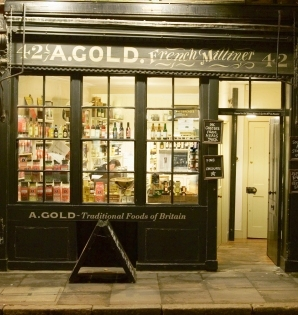 A Gold's shop in Spitalfields.