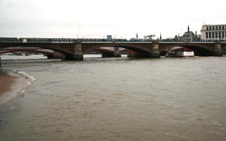 Blackfriars Railway Bridge which features in Harry Potter and the Order of the Phoenix.