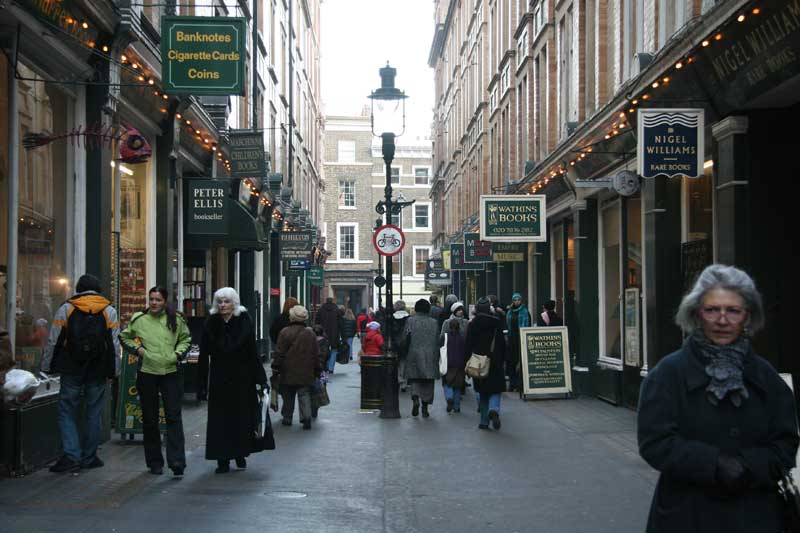 A view along Cecil Court.