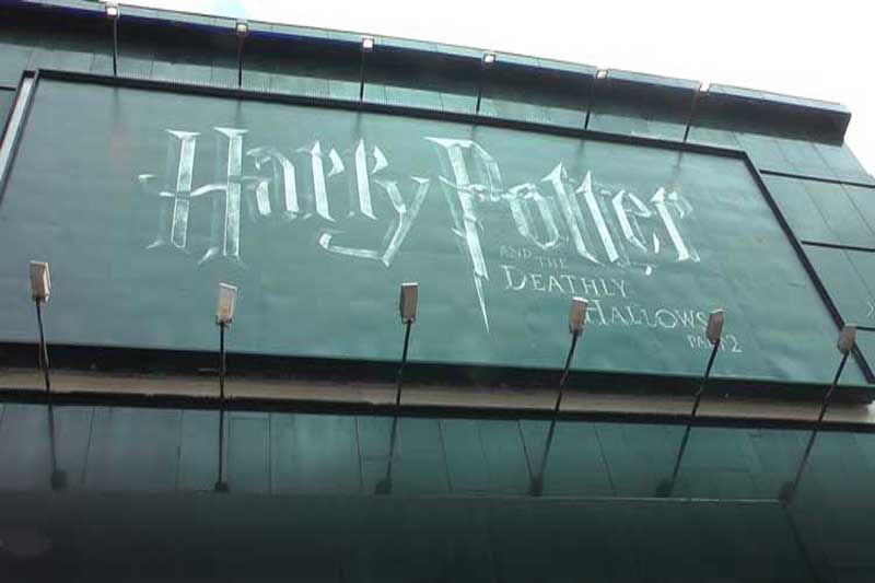 The sign for Harry Potter And The Deathly Hallows, Part Two.