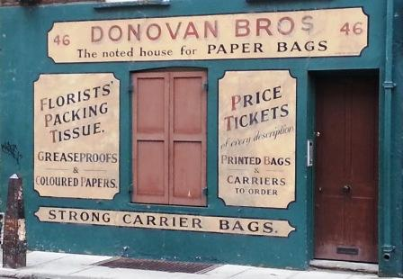 Donovan Bros carrier bag shop.