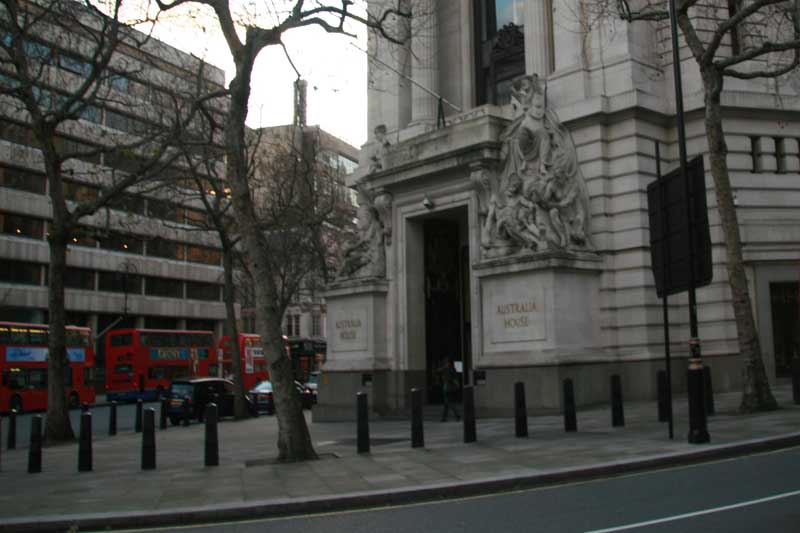 The exterior of Australia House, Gringotts Bank.