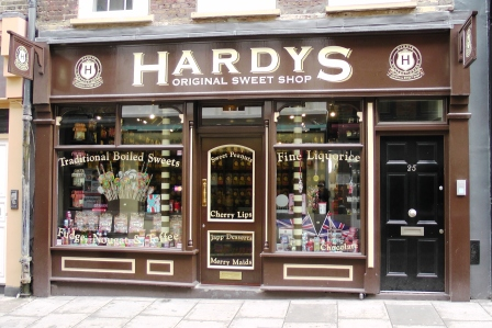 Hardy's sweetshop where you can buy a bag of Harry Potter themed sweets.