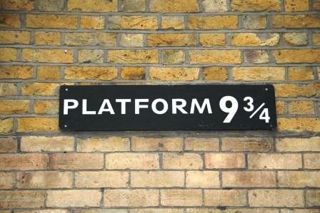 Platform 9 and 3/4 Harry Potter.