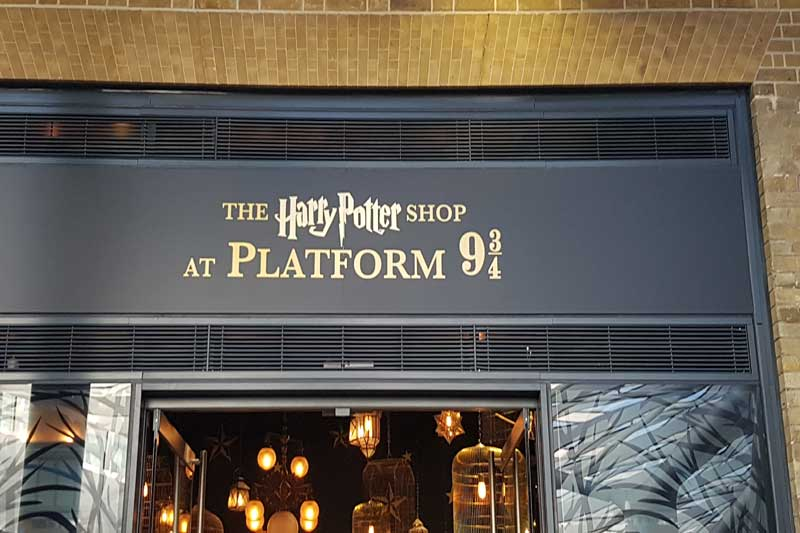 The Harry Potter Shop at King's Cross Station.