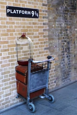 The Harry Potter Trolley at Platform 9 and 3/4
