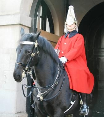 One of the Horse Guards in London.