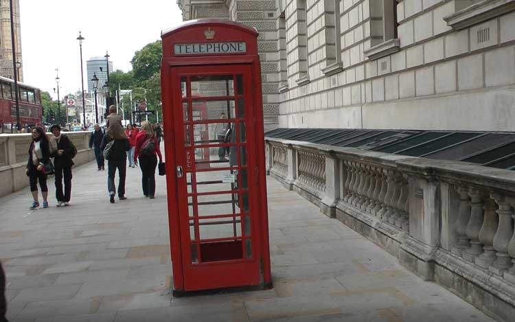 A phone box on Parliament Street.