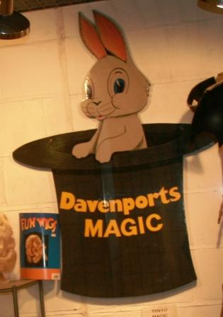 Rabbit at Davenports Magic Shop.