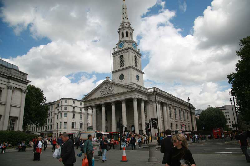 The Church of St Martin in the Fields.