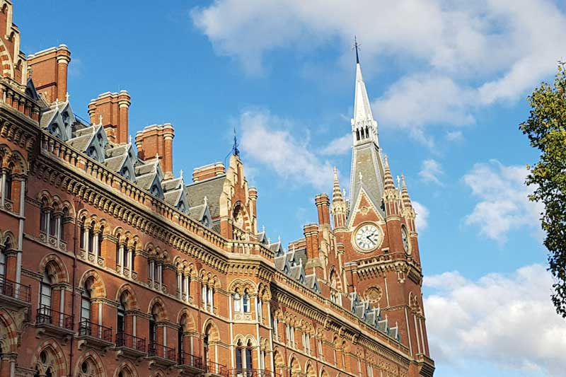The clock over St Pancras Station.